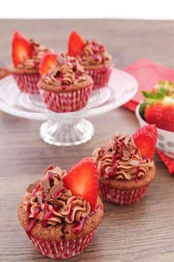 Rezept Nutella-Erdbeer-Cupcakes
