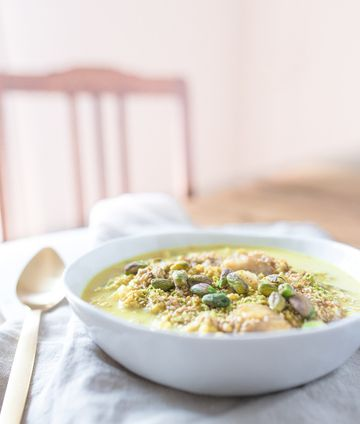 Rezept Oatmeal mit goldener Milch
