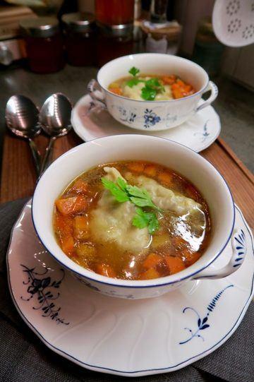 Rezept Ochsenschwanzsuppe mit Ochsenschwanzravioli