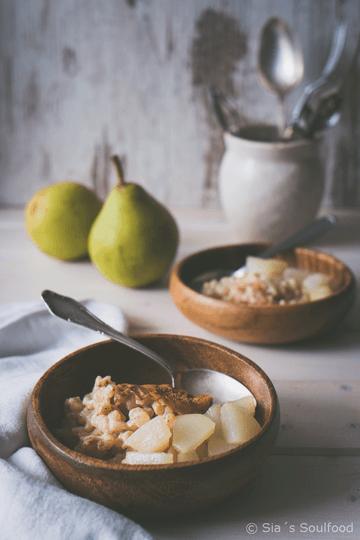 Rezept Ofen-Milchreis mit Birnen-Kompott