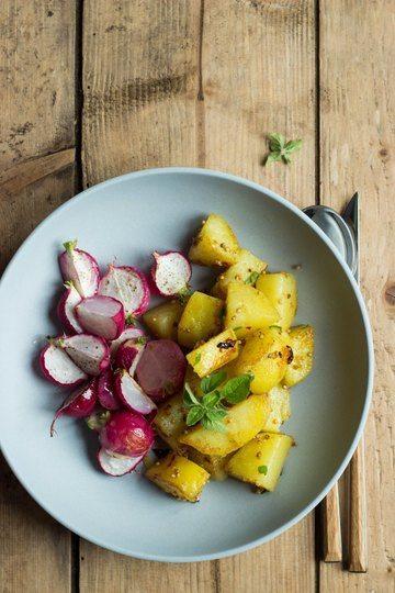 Rezept Ofengeröstete Radieschen mit Koriander-Kartoffeln