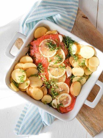 Rezept Ofenlachs mit Zitrone, Dill und Kartoffeln – gesund und einfach