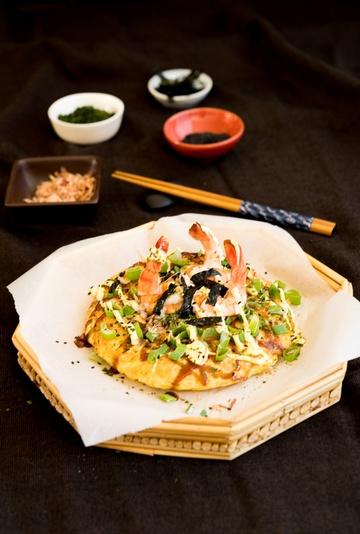 Rezept Okonomiyaki mit Crevetten