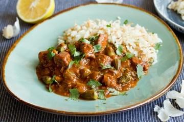Rezept Okra-Eintopf und Reis mit Vermicelli