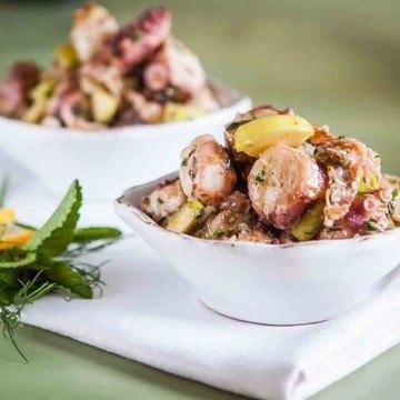 Rezept Oktopus Salat mit Salami