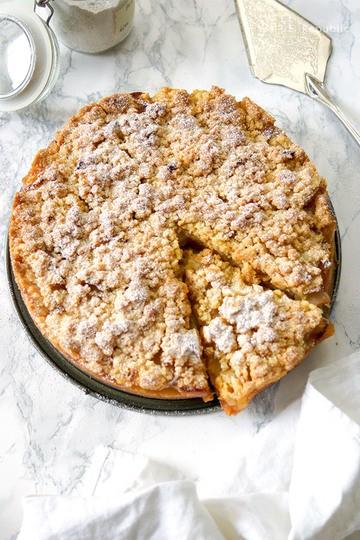 Rezept Omas Apfelkuchen mit Streusel (Apfelkrümel)