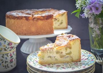 Rezept Omas Rhabarberkuchen mit Ricotta