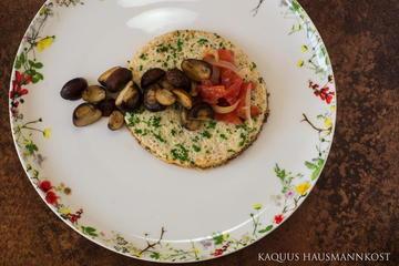 Rezept Omelett mit Champignons und Tomate