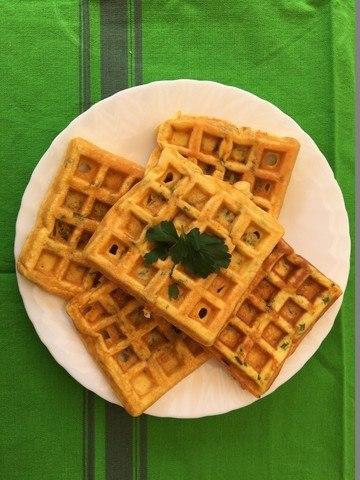 Rezept Omelette façon gaufre / Omelett in Waffel-Form