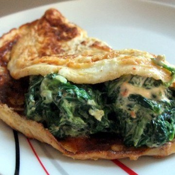 Rezept Omelette mit Spinat
