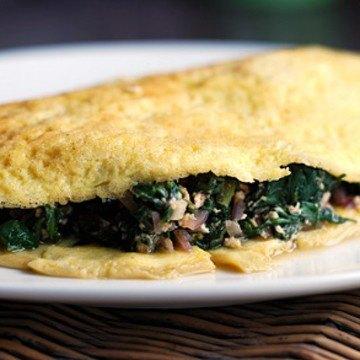 Rezept Omelette mit Spinatfüllung