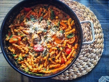 Rezept One Pot Meatball Pasta