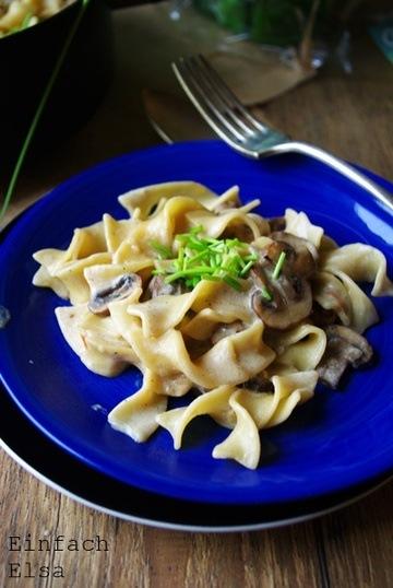 Rezept One Pot Pasta mit Champignons