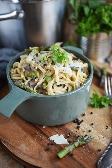 Rezept One Pot Pasta mit grünem Spargel
