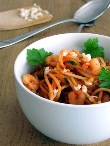 Rezept One Pot Pasta Tomate Shrimps