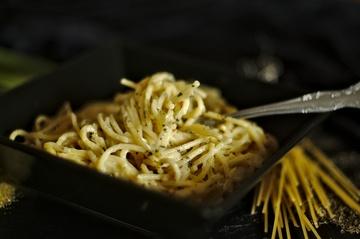 Rezept One Pot Spaghetti mit Käse-Sahnesoße!