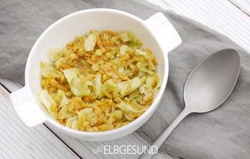 Rezept One-Pot-Spitzkohl-Curry mit Linsen und Möhren