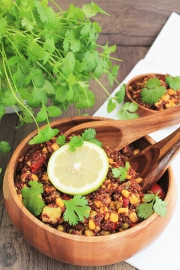 Rezept One Pot Vegan Quinoa Bowl
