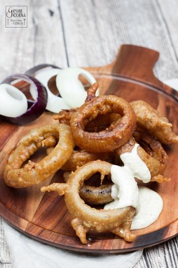 Rezept Onion Rings im Guinness Teig