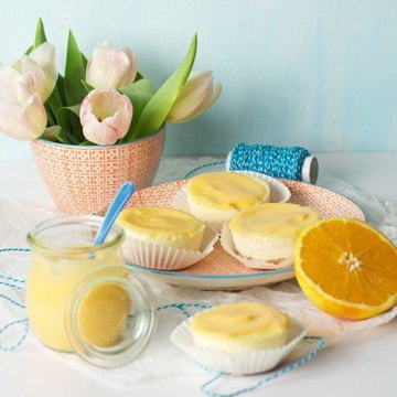 Rezept Orange-Cheesecake-Muffin mit Orangen-Curd