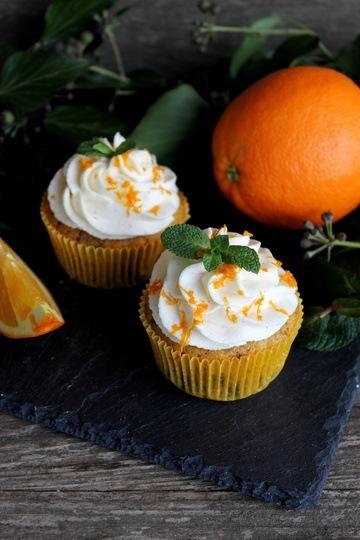 Rezept Orangen-Cupcakes mit Schokosplittern