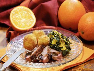 Rezept Orangen Grünkohl mit Ente