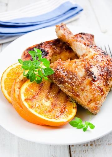 Rezept Orangen-Hähnchenkeule