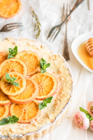 Rezept Orangen-Jogurthcreme-Tarte ein erfrischender Genuss zum Wochenende