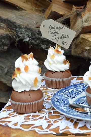 Rezept Orangen Kaffee Cupcakes