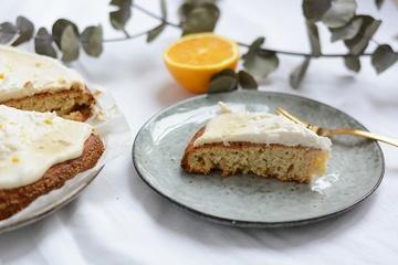 Rezept Orangen-Kokos-Kuchen mit Kokos-Frosting