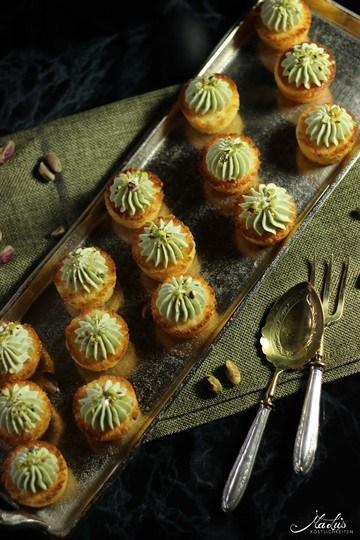 Rezept Orangen-Pistazien Mini Cupcakes