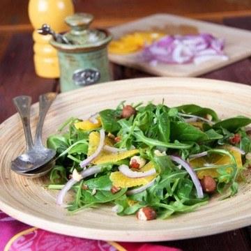 Rezept Orangen-Spinat-Arugula Salat