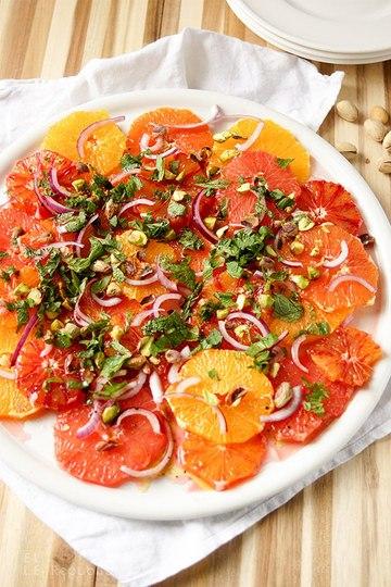 Rezept Orangensalat mit Pistazien