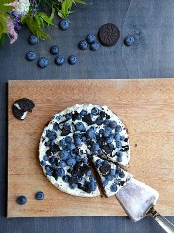 Rezept Oreo Heidelbeer Torte mit Topfencreme