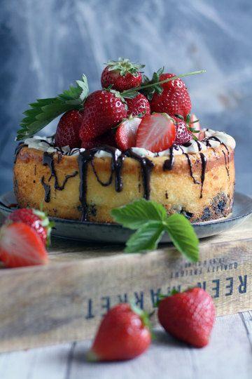 Rezept Oreo Käsekuchen mit Erdbeeren