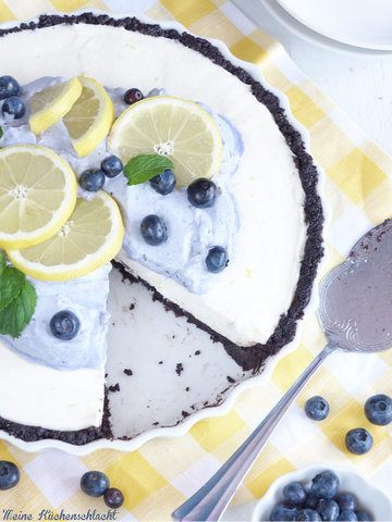 Rezept Oreo-Zitronen Tarte mit Heidelbeer-Sahne