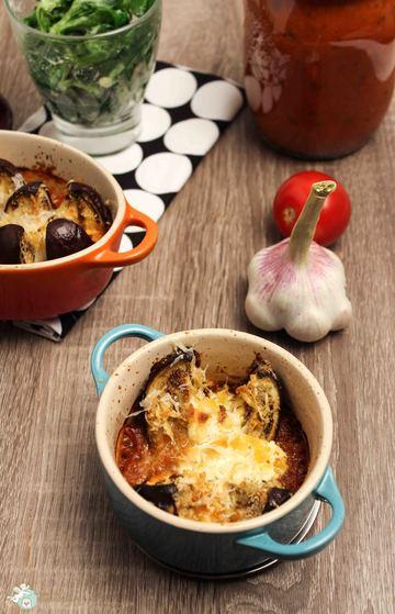 Rezept orientalisch gebackene Miniauberginen