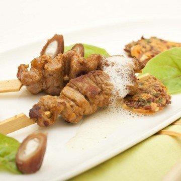 Rezept Orientalische Fleischspieße mit Reispuffern