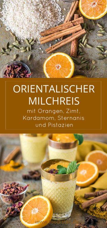 Rezept Orientalischer Milchreis mit Orangen