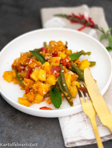 Rezept Orientalischer Röstkartoffelsalat