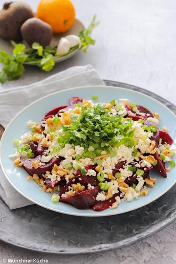 Rezept Orientalischer Rote Bete Salat mit Schafskäse