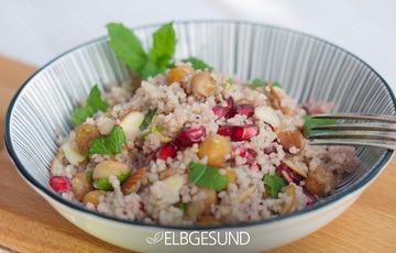 Rezept Orientalisches Couscous mit würzigem Kreuzkümmel und fruchtigen Granatapfelkernen
