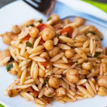Rezept Orzo Nudelsalat mit Kichererbsen