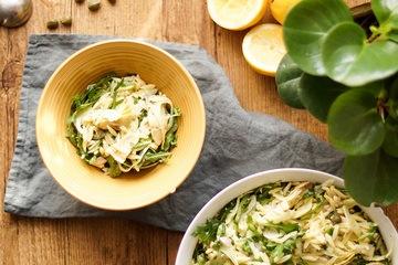 Rezept Orzo-Salat mit geräucherter Forelle