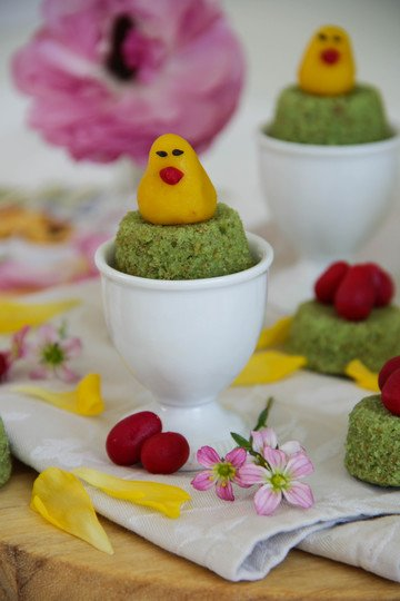 Rezept Oster-Minimuffins mit Marzipandekor