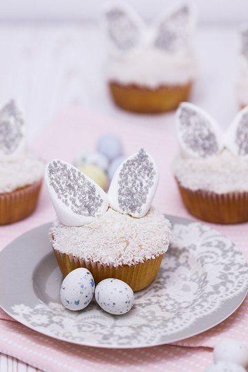 Rezept Osterhasen-Cupcakes mit Vanillefüllung