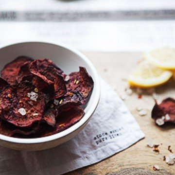 Rezept oven baked beetroot chips