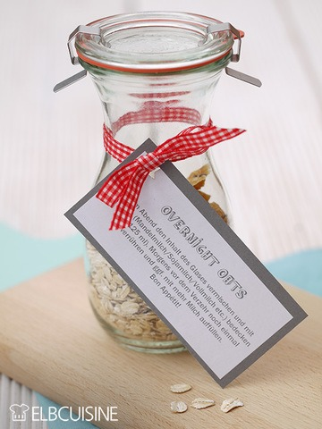 Rezept Overnight Oats – ein geniales Geschenk!!
