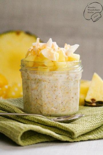 Rezept Overnight Oats mit Kokos und Ananas
