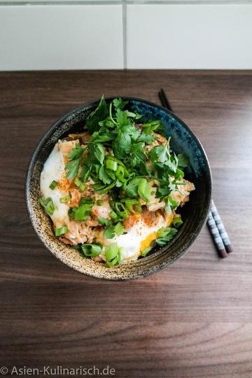 Rezept Oyakadon - Hähnchen und Ei auf Reis